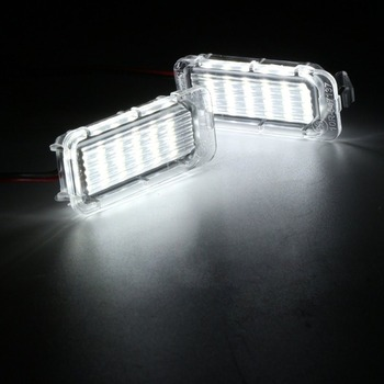 1 Pair of LED Rear Number License Plate Light For Ford For Fiesta For Focus For Kuga For Mondeo Number Plate Lamp Bright White 1