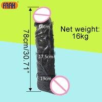 FAAK 78 см длинный огромный фаллоимитатор реалистичный фаллоимитатор, игрушки для интима для женщин, анальный фаллоимитатор, Анальная пробка