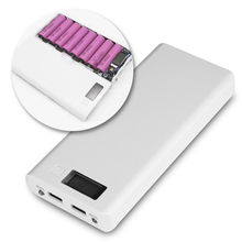 (No Battery) 8×18650 DIY 5V 2A Portable Battery Power Bank Shell Case Box LCD Display Dual USB 2 Ports Powerbank Protector Case