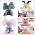 Funny Hide and Seek Plush Toys Elephant Bear Dog Rabbit Pig Electric Speaking Singing Doll Musical Toys for Christmas 16 Models