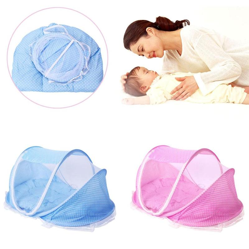 Baby Bedding Crib Netting Folding Baby Music Mosquito Nets Bed Mattress Pillow Three-piece Suit For 0-2 Years Old Children XV2 kocotree suit for 3 12 years old children unisex cap scarf gloves winter warm three piece sets