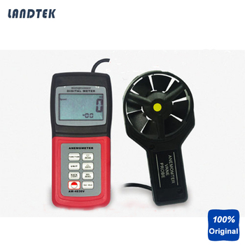 Anemometer Air Flow Speed Meter Temperature Sensor w/ Software AM4836V