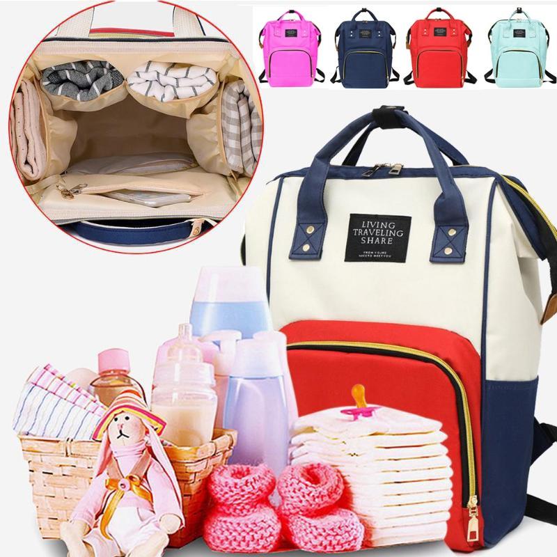 Fashion Mummy Maternity Nappy Bag Brand Large Capacity Baby Bag Travel Backpack Designer Nursing Bag For Baby Care Travel Bag