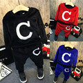 Boy's winter sports suit 2016 new baby thickened warm two sets of free shipping