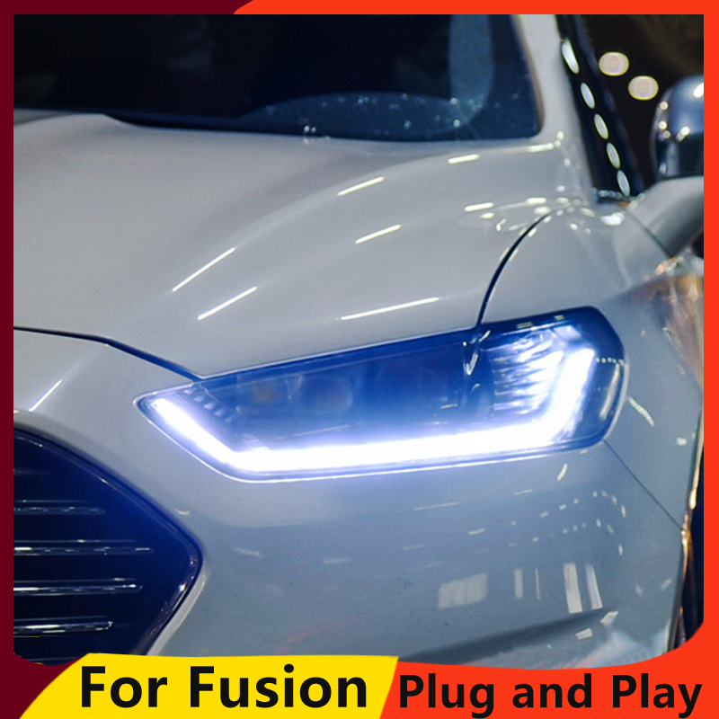 KOWELL Car Styling For Ford Mondeo 2013-2015 LED Headlight for Mondeo Head Lamp LED Daytime Running Light LED DRL Bi-Xenon HID