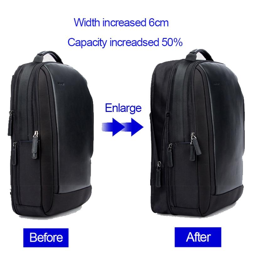 BOPAI Brand Enlarge Backpack USB External Charge 15.6 Inch Laptop Backpack  Shoulders Men Anti-theft Waterproof Travel Backpack  1