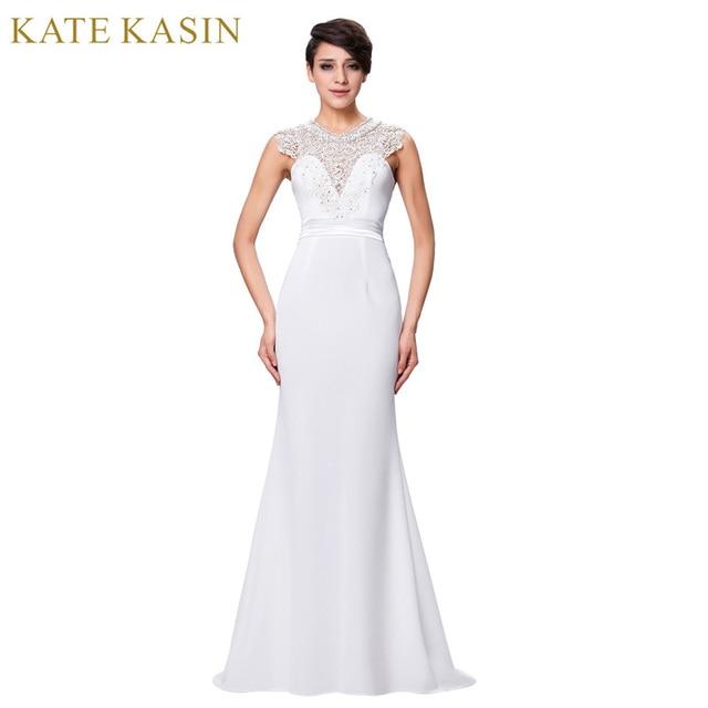 Kate kasin weiß brautkleider mit sheer spitze vintage brautkleider ...