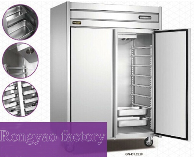 -18~-22 Luxury Stainless Steel Commercial Refrigerator Kitchen Air-cooled Cabinet  Freezer Baking Tray Hot Sale