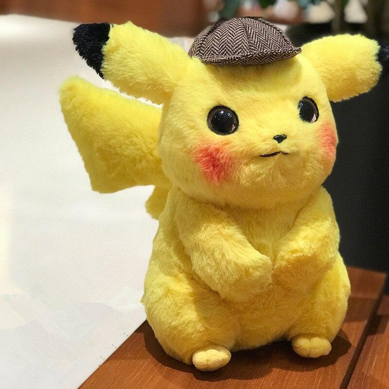 28cm\35cm\45cm Detective Pikachu Plush Toy Cute Anime Plush Toys Children's Gift Toy Kids Cartoon Pikachu Plush Doll