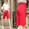 Top Quality fashion cotton summer wid leg women pants plus size  straight high waist women short pants