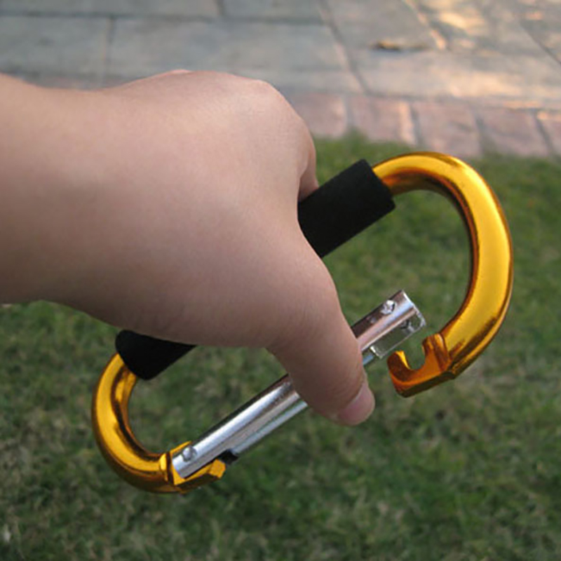 1 Piece 135x9cm Big Large Carabiner Hand Hook Carry For Roller Ice Sking Skate Shoes  Random Color Aluminium Alloy