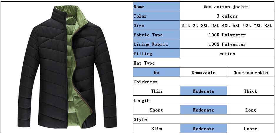 Plus Size Xxxxxxl Mens Autumn Winter Jacket Long Sleeve Parka Mens Overcoat Outwear Zipper Up Streetwear Asian Size 6xl Jk14 Men's Clothing Jackets