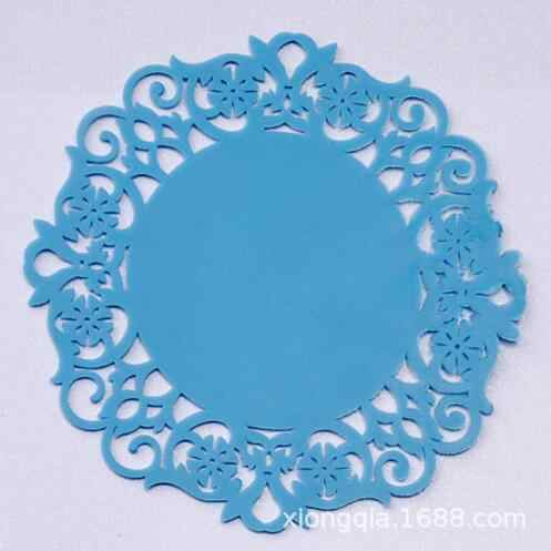 2 cái/lốc Ren Hoa Hollow Doilies Silicone Coaster Cà Phê Cup Mats Pad Placemat Nhà Bếp Công Cụ Không-trượt Bảng Trang Trí Nội Thất