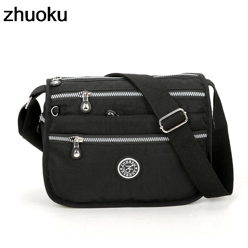 ZHUOKU Waterproof Nylon Women Messenger Bags Small Purse Shoulder Bag Female Crossbody Bags Handbags High Quality Bolsa Tote