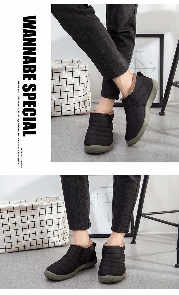 новый мужской ботильоны для мужчин сапоги зимние ботинки снега сапоги с хлопком противоскольжения дно согреться водонепроницаемый пара обуви