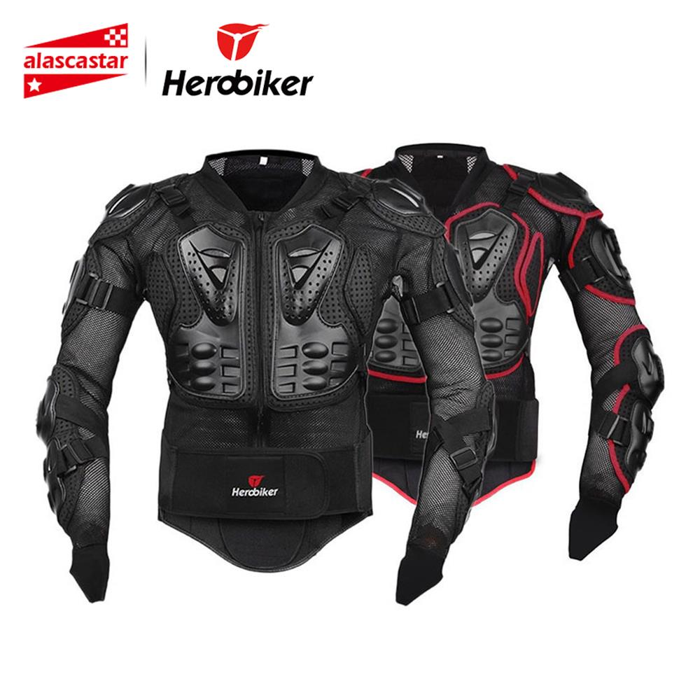 HEROBIKER Motorcycle Jacket Full Body Armor Equipement Motocross Off Road Protector Protective Gear Clothing S M