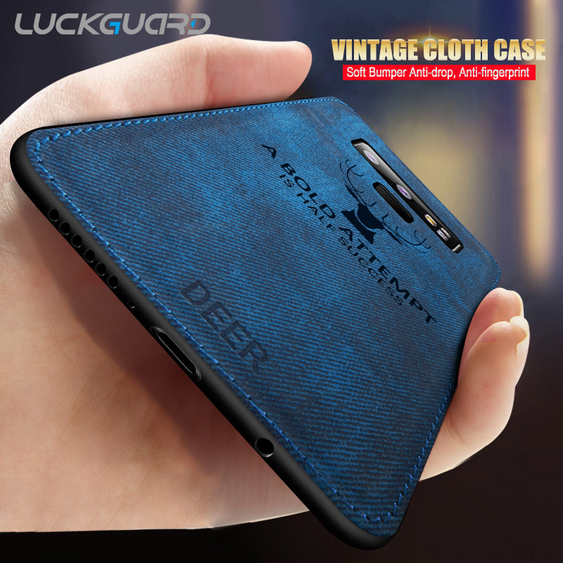 Fabric Deer Luxury Case For Samsung Galaxy S8 S9 S10 Plus S20 Ultra S10e A50 A30 A750 A8 A51 Note 8 9 10 Plus M50 M20 Cover