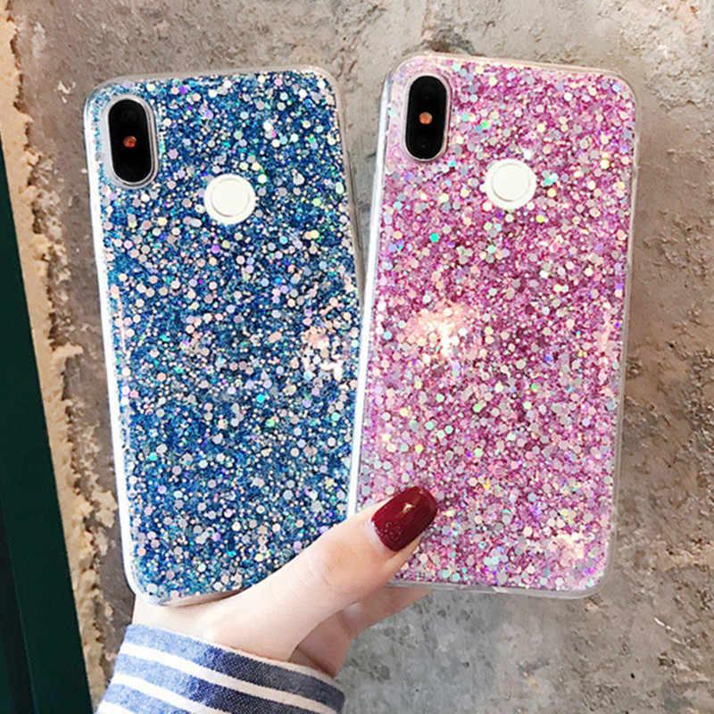 33bb029695 Glitter sparkling soft case For redmi note 6 case For redmi note 6 pro for  redmi 6 pro case redmi 6 plus Back Cover