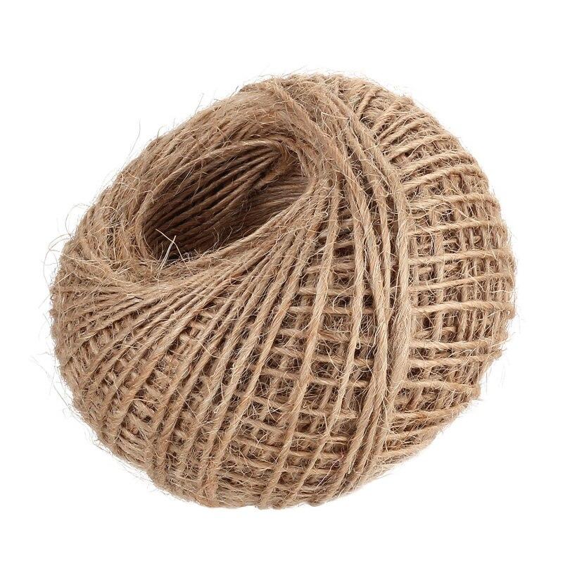100 m de arpillera de yute guita natural cuerda de camo cuerda de la boda envoltura