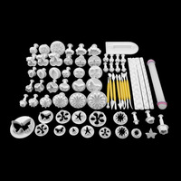68Pcs Fondant Cake Decorating Sugar Craft Plunger Tools Cookies Mold Mould