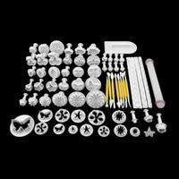 68Pcs Fondant Cake Decorating Sugar Craft Plunger Tools Cookies Mold Mould