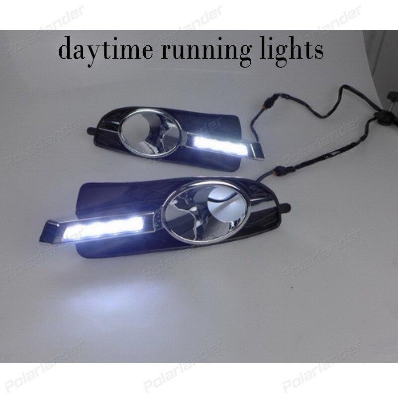 Car LED Day Driving Light Fog Lamp for B/uick L/aCrosse 2008-2012  DRL Daytime Running Lights 2x led car daytime running light drl driving fog lamp light for benz glk300 500 2008 2012 free shipping
