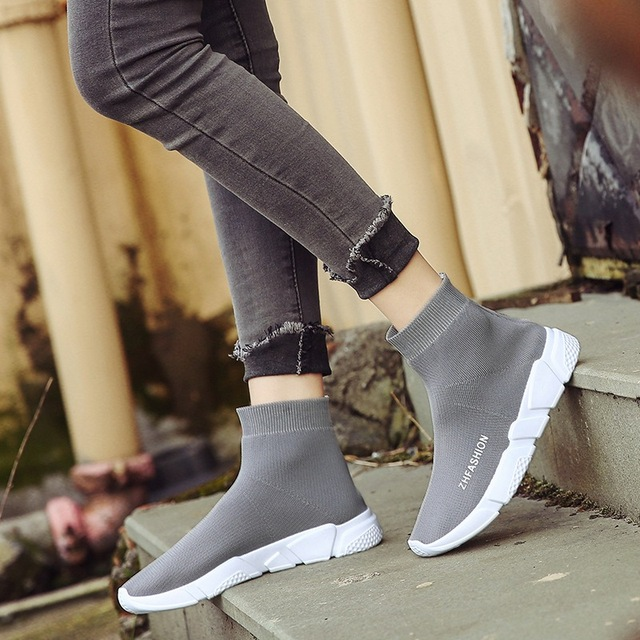 7e5fcfcd2f0 2019 new Women s autumn winter walking shoes over knee boots long tube slim  stretch high boots