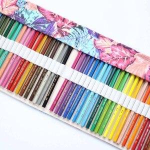 Пенал для карандашей, тканевый рулонный чехол, косметический чехол для макияжа, пенал для занавесок, с рисунком, PAK55