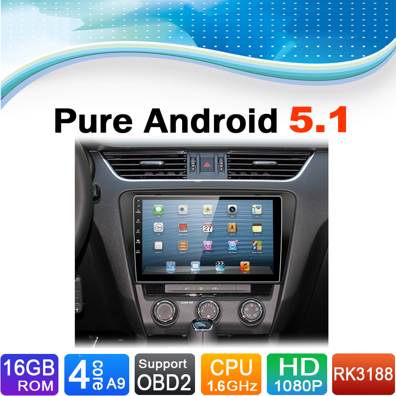 Android 5.1.1 System Car DVD GPS Navigation System Stereo Media Auto Radio Audio Video for Skoda Octavia A7 2013 2014 2015