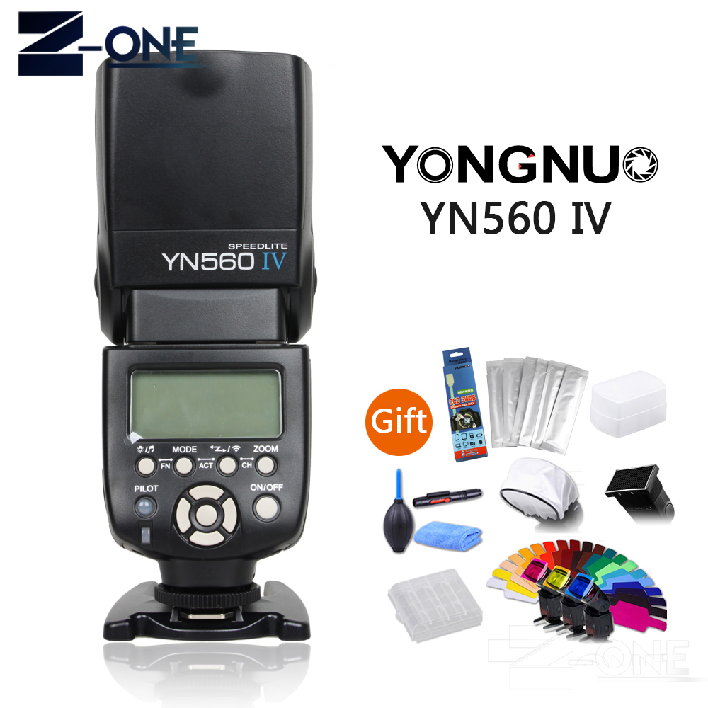 YONGNUO YN-560IV YN 560IV yn560iv YN-560IV 2.4G Wireless Flash Light For Nikon D750 D800 D800E D810 D7200 D7100 D610 D5300 dste mb d12 multi power battery grip for nikon d800 d800e d810 camera black