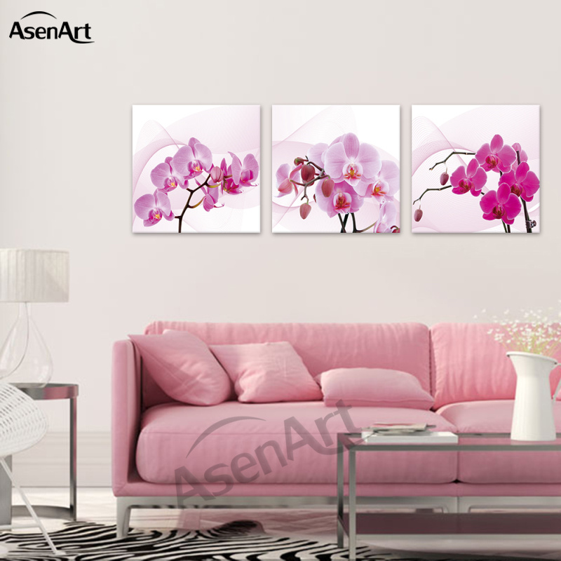 ᗛButterfly Orchid Phalaenopsis Chinese Wall Art Canvas Oil ...