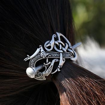 4*6cm Vikings Dragon Hairpins Hair Clips Stick Slide Accessories F-02 1