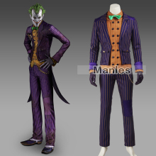 2016 Manles Batman Arkham Knight Joker Cosplay Costume Adult Custom Made