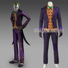 Batman Arkham рыцарь Джокер Косплэй костюм Костюм с Бэтменом взрослых Косплэй Джокер Бэтмен костюм на Хэллоуин наряд мужской индивидуальный заказ