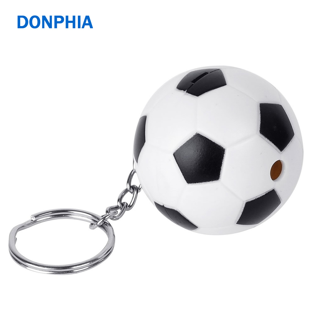 DONPHIA 120db Personal Alarm Device Self Defence Anti Danger Mini Football Shape Security Protect Alert Big Loud Key Chain 2017 self defence safety gsm alarm anti theft alarm alarm high loudness scared the thief