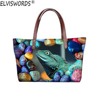 ELVISWORDS Lizard Bag Handbags Women Bags 3d Designers Cartoon Animal Printing Stylish Tote Bags Luxury Handbag Nylon Waterproof