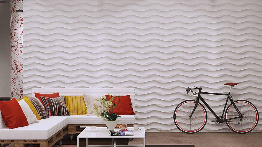 """פלסטיק עובש גבס 3D דקורטיבי קיר פנלים """"עלים על חול"""" חדש עיצוב 2017 שנה"""