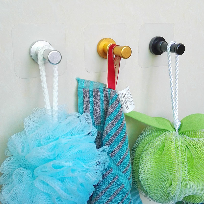 2Pcs Aluminum Alloy Wall Hooks Coat Robe Towel Storage Hanging Hook for Kitchen Bathroom Accessories MYDING