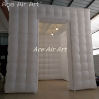 More colors inflatable led foto booth backdrop,photo party show tent shelter party canopy with lights outside for Chile