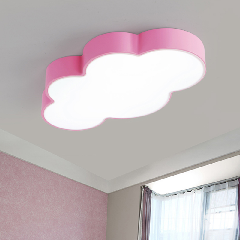 Cloud ceiling light simple modern led children\'s room bedroom ...