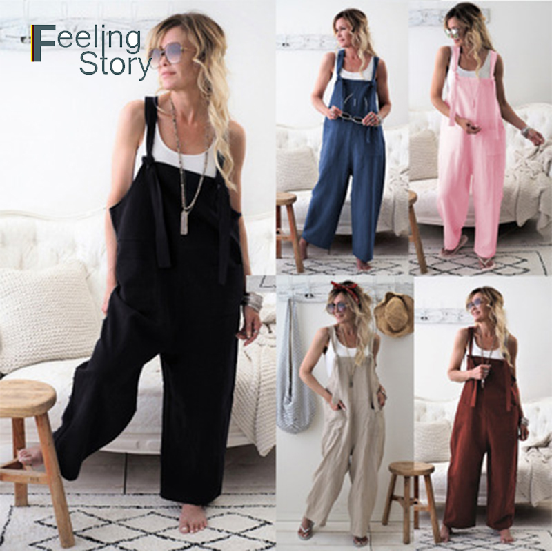 Useful New 2019 Summer Women Office Lady Solid Color Sexy Jumpsuit Monos Largos Mujer Pantalon Largo Rompers Womens Jumpsuit Longe Women's Clothing