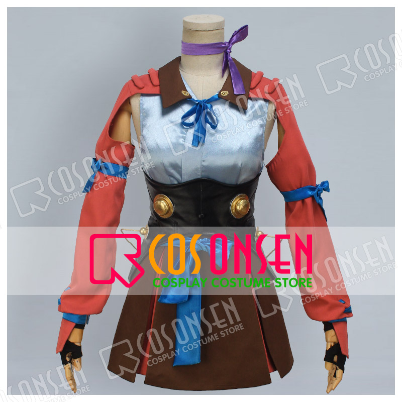 COSPLAYONSEN Kabaneri of the Iron Fortress  Mumei Combat equipment Cosplay costume All Size