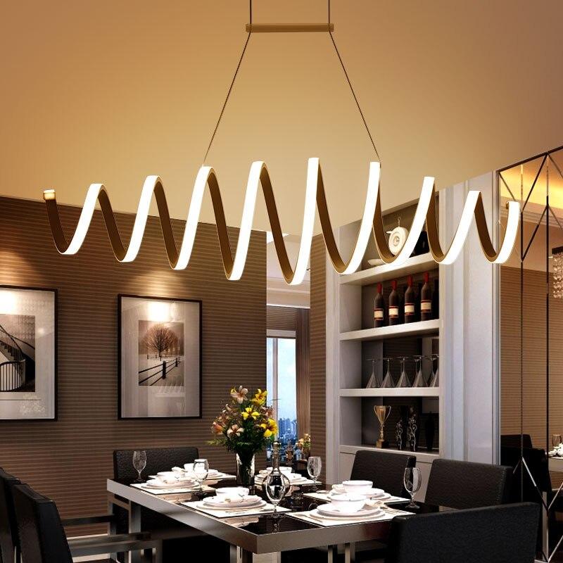 AC85-260V Modern led chandelier for dining room bar kitchen aluminum acrylic white hanging pendant chandelier lamp free shipping