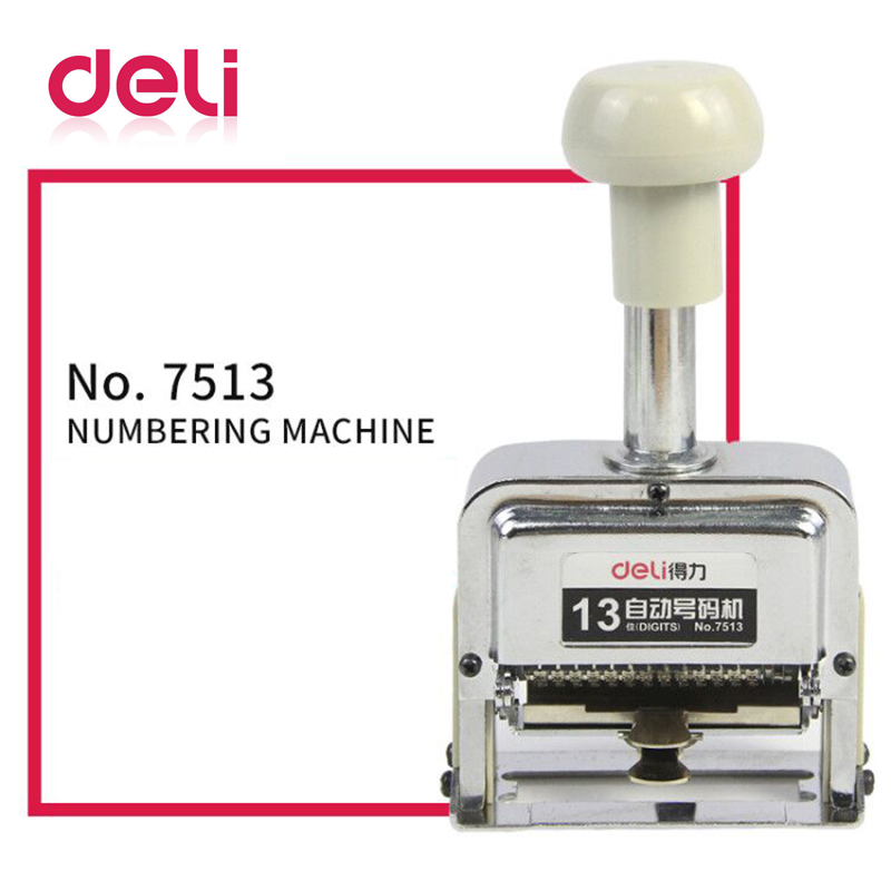 Deli Automatic Number Machine 13 Position Numbering Machine Into The Number Coding Page Chapter Marking Machine Digital Stamp