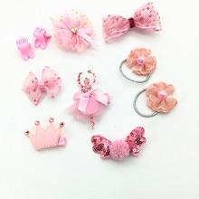 10 Pcs High-end Cute Bowknot Hair Clips Fine gift Boxed Set Girls Headbands Cartoon Animal Hairpin Tiara Star Accessory T28