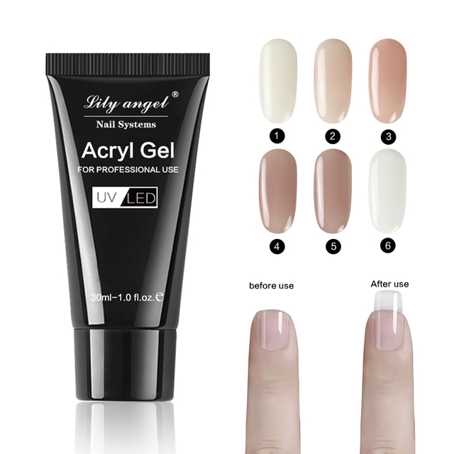 Lily Angel Poly Gel Acrylic  Nail Acrylic Poly Gel Crystal UV LED Builder Gel Tips Enhancement Slip Solution Quick Extension Gel 2