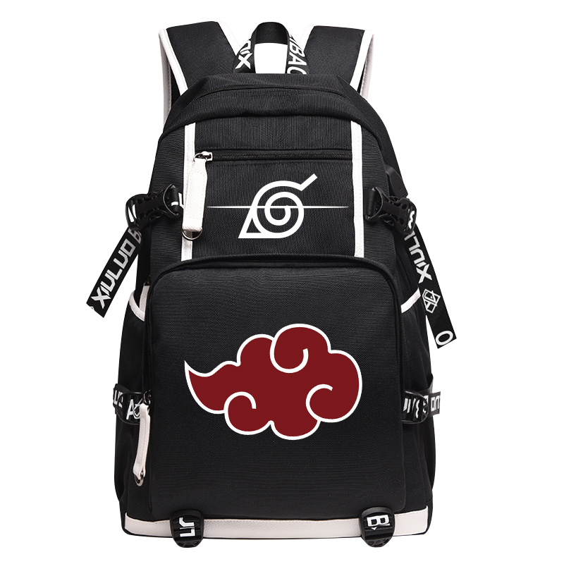 2018 New Arrival Cartoon Backpack Unisex Anime Bags Naruto Backpack Akatsuki Sharingan School Backpacks Laptop Shoulder Bag 2017 new naruto school backpack anime bag cosplay cartoon student leisure back to school 17 backpacks laptop travel shouler bag