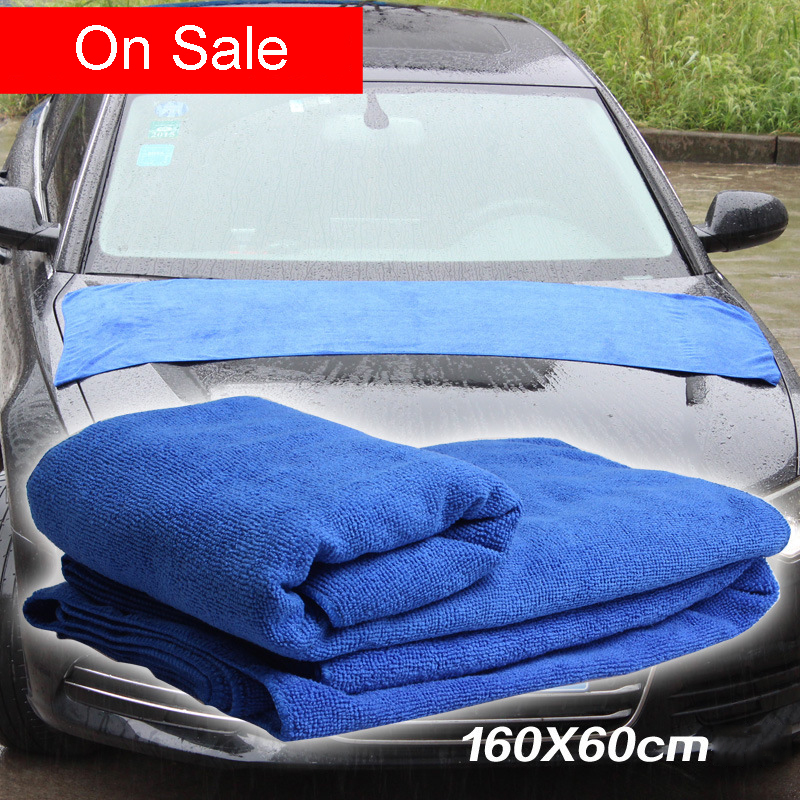 Automobiles Waxing Sponge 160*60cm Car Washing Towel Fine Fi
