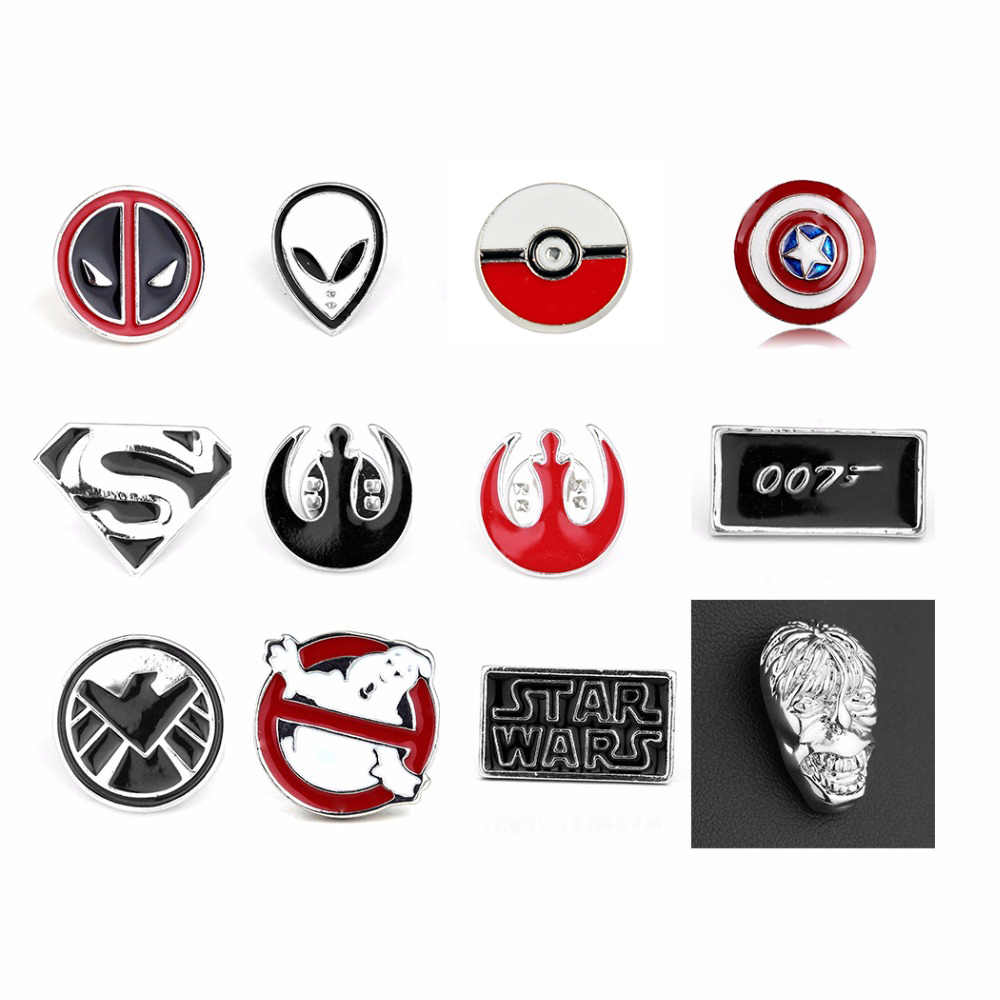 Kelas Atas Deadpool Pin Bros Star Wars Darth Vaderdoctor Yang Bros Perhiasan Merah Enamel Pin Lencana Pin Fashion Dress Aksesori