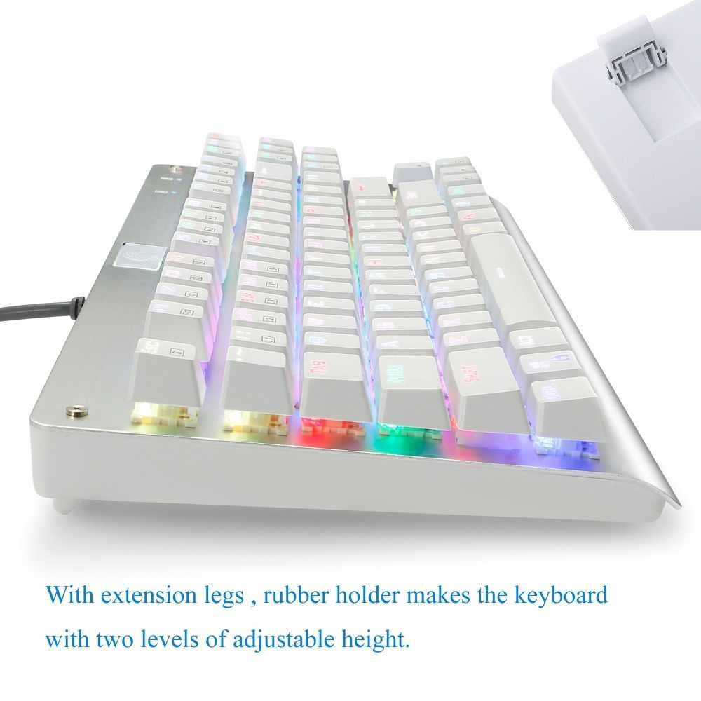 Механическая игровая клавиатура Z77 Eagle TKL 87 клавиш RGB с подсветкой Outemu Blue Switch Anti-Ghosting компьютерная клавиатура для геймера Typist
